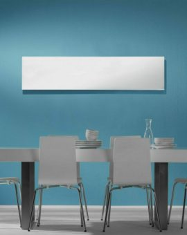 Inspire White, frameless Infrared panel heater